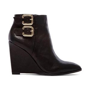 Vince Camuto Karmel Leather Wedge Bootie